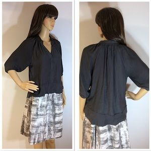 URBAN OUTFITTERS SILENCE+NOISE CHARCOAL HI/LO TOP